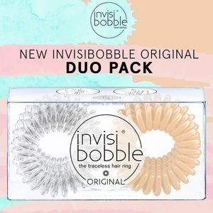 Invisibobble Clear & Nude Duo Pack Hair Ties